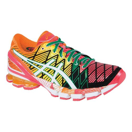 Womens ASICS GEL-Kinsei 5 Running Shoe - Yellow/Black 11.5