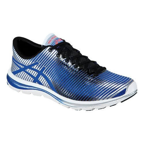 Mens ASICS GEL-Super J33 Running Shoe - Blue/Black 8