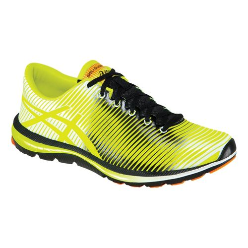 Mens ASICS GEL-Super J33 Running Shoe - Flash Yellow/Black 11.5