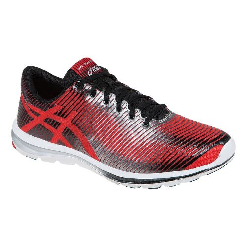 Mens ASICS GEL-Super J33 Running Shoe - Red/Lightning 7.5