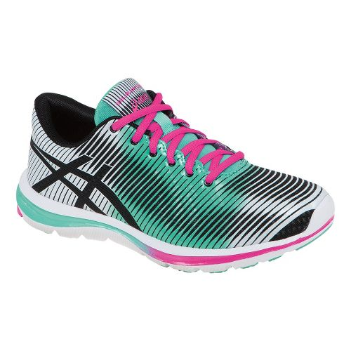 Womens ASICS GEL-Super J33 Running Shoe - Black/Mint 11.5