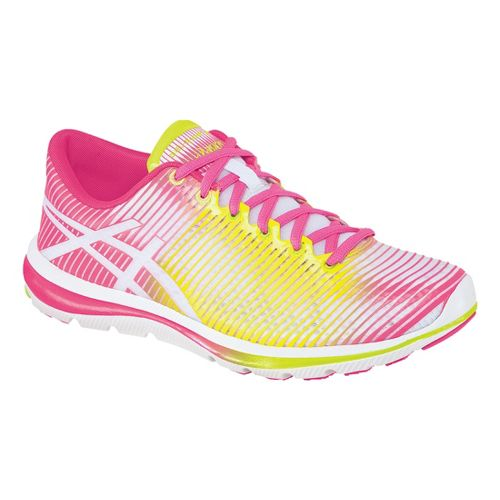 Womens ASICS GEL-Super J33 Running Shoe - White/Flash Yellow 7