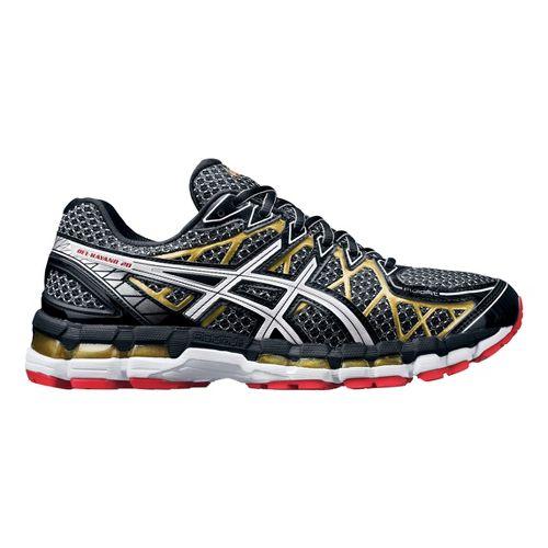 Mens ASICS GEL-Kayano 20 Running Shoe - Black/Gold 14
