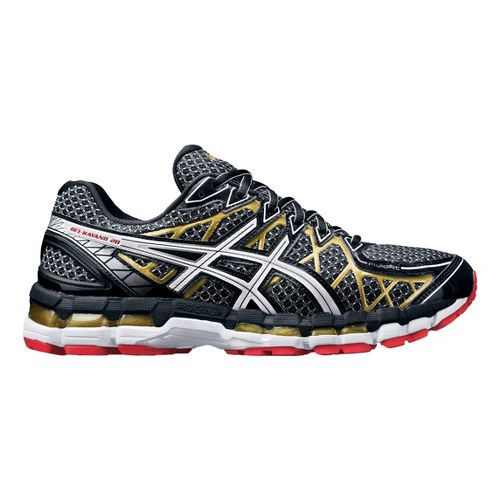 Mens ASICS GEL-Kayano 20 Running Shoe - Black/Gold 9.5
