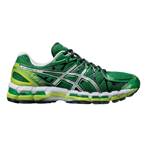 Mens ASICS GEL-Kayano 20 Running Shoe - Green/White 10