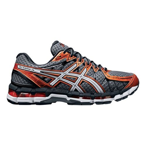 Mens ASICS GEL-Kayano 20 Running Shoe - Grey/Orange 12.5