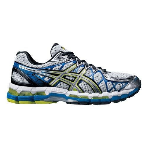 Mens ASICS GEL-Kayano 20 Running Shoe - Silver/Blue 14