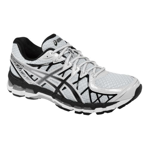 Mens ASICS GEL-Kayano 20 Running Shoe - White/Black 7.5