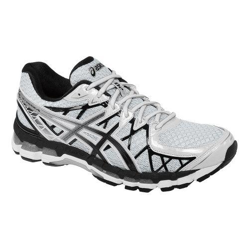 Mens ASICS GEL-Kayano 20 Running Shoe - White/Black 8