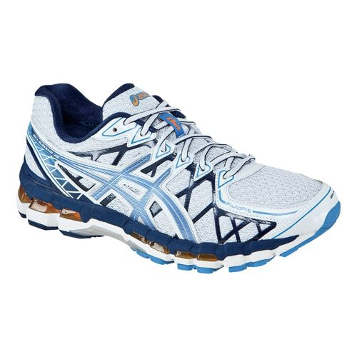 Mens ASICS GEL-Kayano 20 Running Shoe - White/Galaxy 7