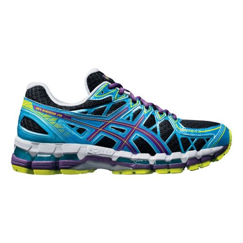 Womens ASICS GEL-Kayano 20 Running Shoe - Black/Blue 10.5