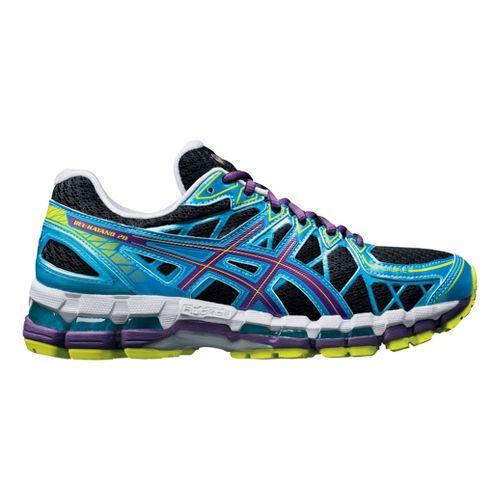 Womens ASICS GEL-Kayano 20 Running Shoe - Black/Blue 8
