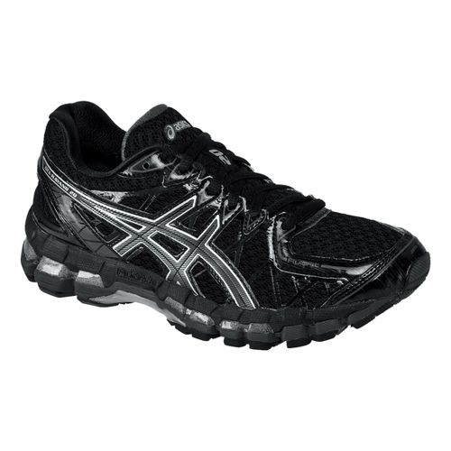 Womens ASICS GEL-Kayano 20 Running Shoe - Black/Onyx 8.5