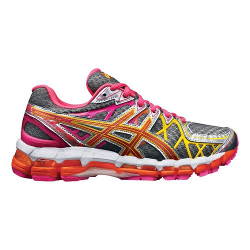 Womens ASICS GEL-Kayano 20 Running Shoe - Grey/Pink 12.5