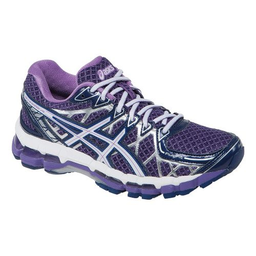 Womens ASICS GEL-Kayano 20 Running Shoe - Purple/White 12.5