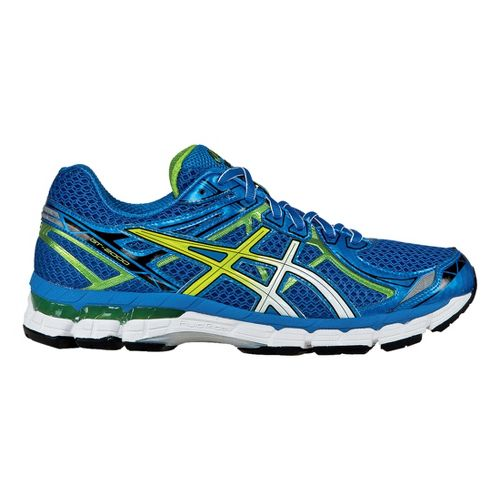 Mens ASICS GT-2000 2 Running Shoe - Blue/Lime 12.5