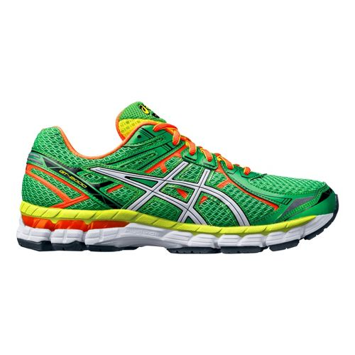 Mens ASICS GT-2000 2 Running Shoe - Green/Orange 8