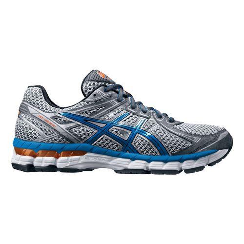 Mens ASICS GT-2000 2 Running Shoe - Titanium/Blue 10.5