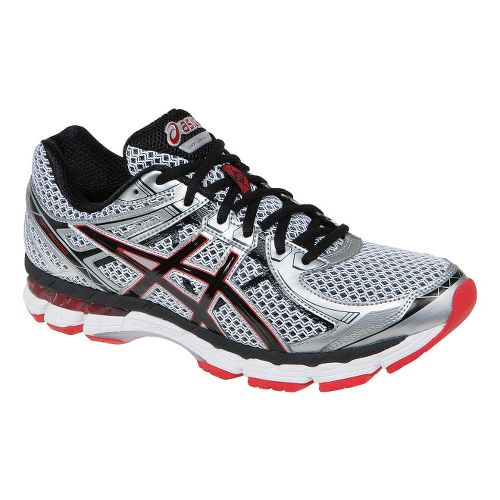 Mens ASICS GT-2000 2 Running Shoe - White/Red Pepper 7