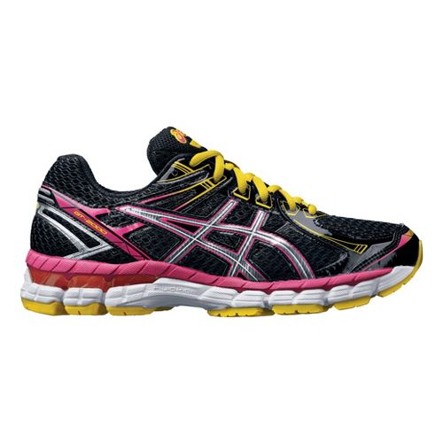 Womens ASICS GT-2000 2 Running Shoe - Black/Raspberry 8.5