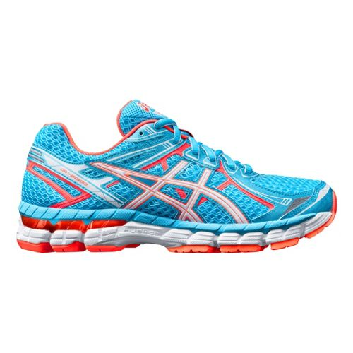 Womens ASICS GT-2000 2 Running Shoe - Blue/Melon 12.5