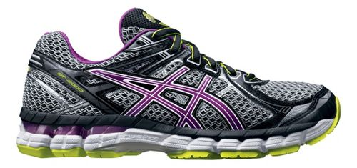 Womens ASICS GT-2000 2 Running Shoe - Grey/Orchid 6
