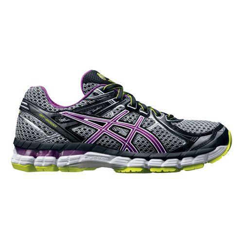 Womens ASICS GT-2000 2 Running Shoe - Grey/Orchid 10.5