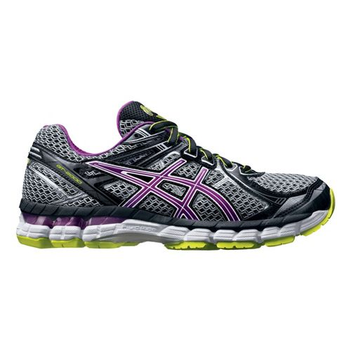 Womens ASICS GT-2000 2 Running Shoe - Grey/Orchid 6.5