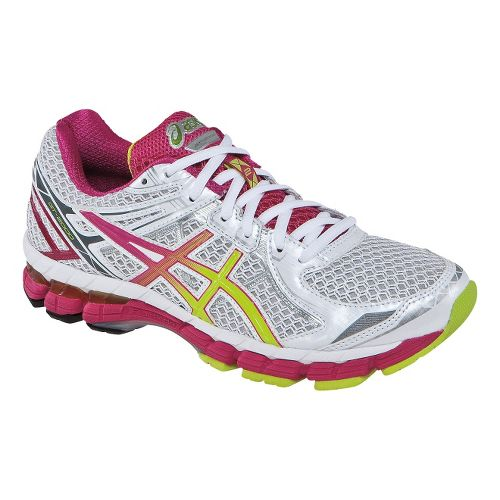 Womens ASICS GT-2000 2 Running Shoe - White/Raspberry 6.5