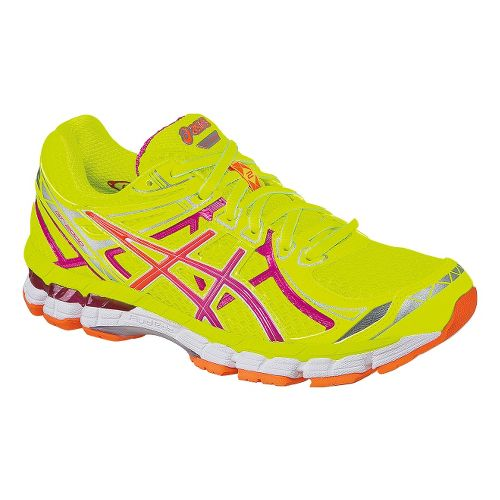 Womens ASICS GT-2000 2 Running Shoe - Yellow/Pink 12