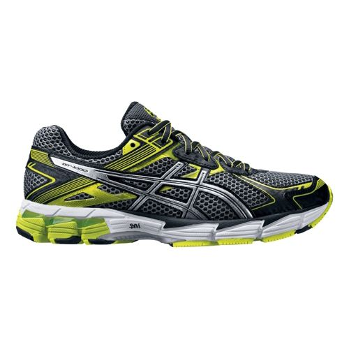 Mens ASICS GT-1000 2 Running Shoe - Grey/Green 12.5