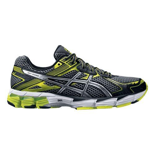 Mens ASICS GT-1000 2 Running Shoe - Grey/Green 8.5