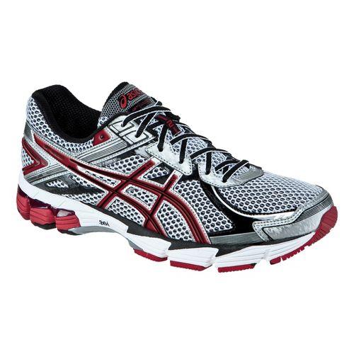 Mens ASICS GT-1000 2 Running Shoe - White/Maroon 14