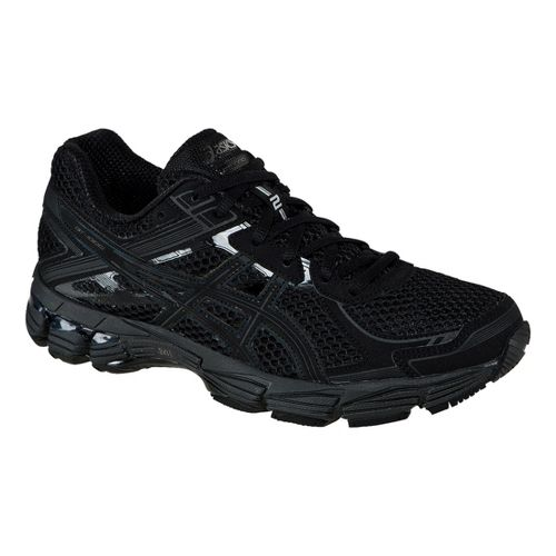 Womens ASICS GT-1000 2 Running Shoe - Black/Onyx 11