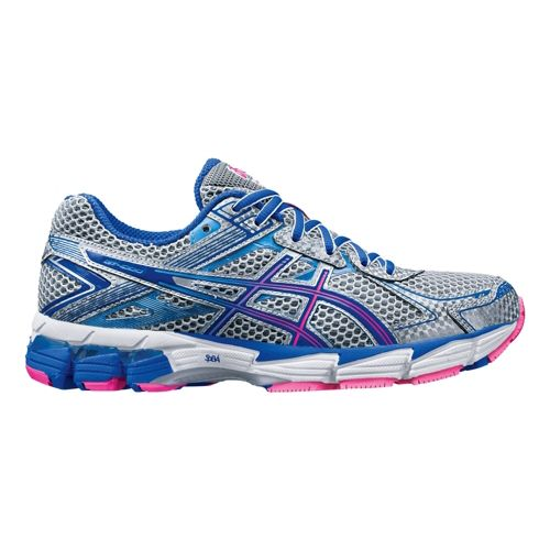 Womens ASICS GT-1000 2 Running Shoe - Grey/Blue 5