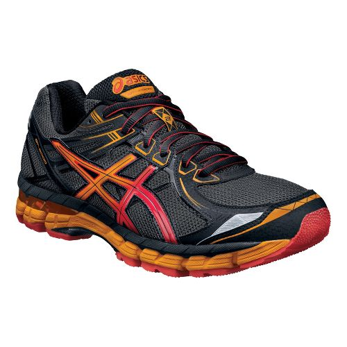 Mens ASICS GT-2000 2 Trail Running Shoe - Grey/Orange 11.5