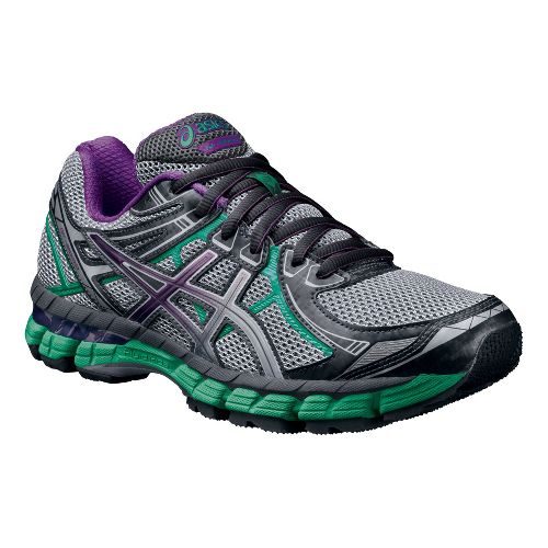 Womens ASICS GT-2000 2 Trail Running Shoe - Titanium/Purple 5.5