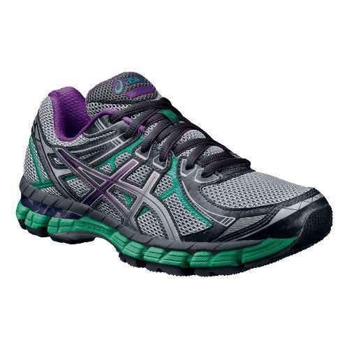 Womens ASICS GT-2000 2 Trail Running Shoe - Titanium/Purple 9