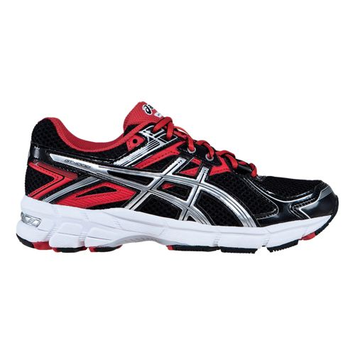 Kids ASICS GT-1000 2 GS Running Shoe - Black/Red 3