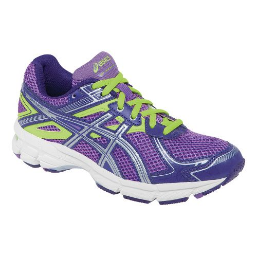 Kids ASICS GT-1000 2 GS Running Shoe - Lavender/Lime 3.5
