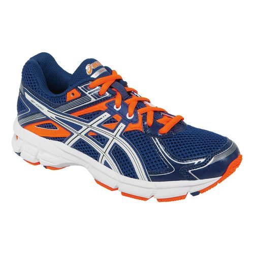 Kids ASICS GT-1000 2 GS Running Shoe - Navy/Flash Orange 5