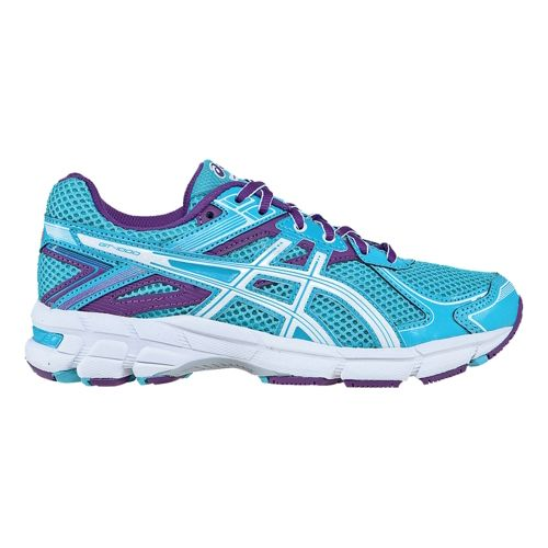 Kids ASICS GT-1000 2 GS Running Shoe - Turquoise/Purple 3.5
