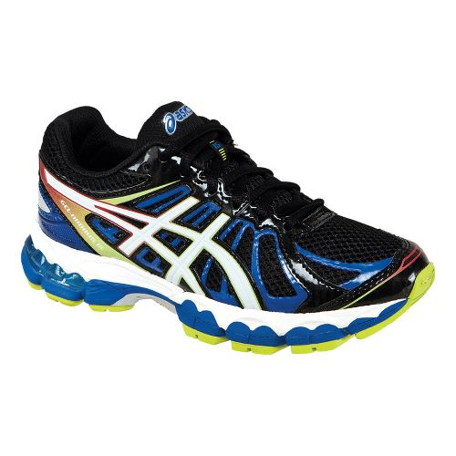 Kids ASICS GEL-Nimbus 15 GS Running Shoe - Black/Blue 4.5