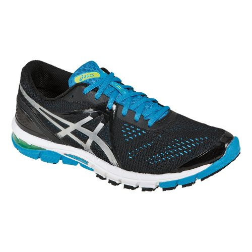 Mens ASICS GEL-Excel33 3 Running Shoe - Black/Blue 12.5
