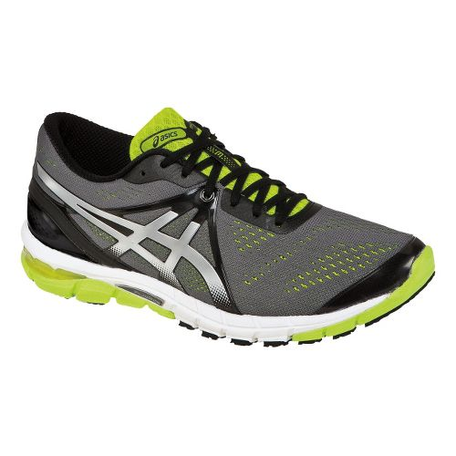 Mens ASICS GEL-Excel33 3 Running Shoe - Charcoal/Lime 8