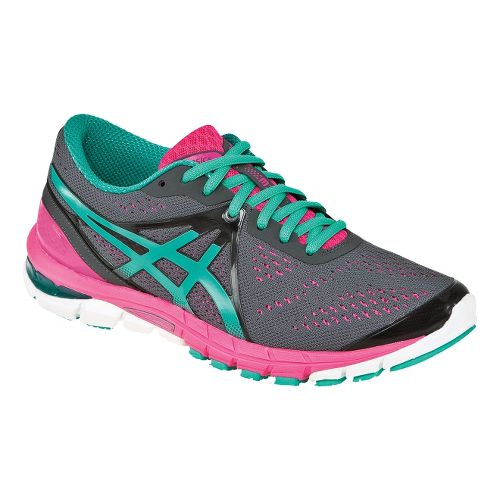 Womens ASICS GEL-Excel33 3 Running Shoe - Charcoal/Emerald 5
