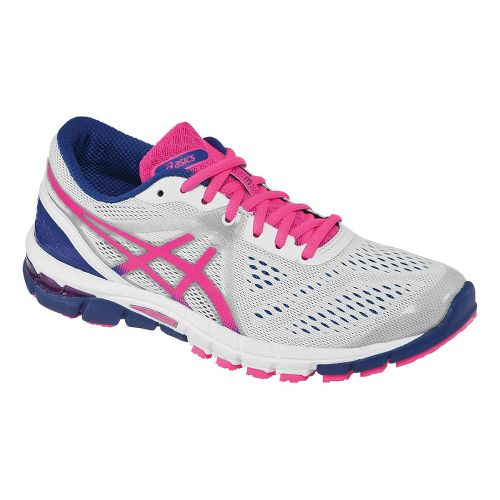 Womens ASICS GEL-Excel33 3 Running Shoe - White/Hot Pink 7.5