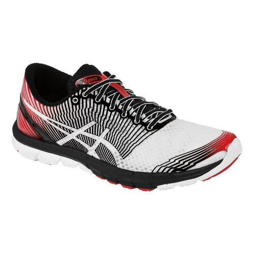 Mens ASICS GEL-Lyte33 3 Running Shoe - White/Black 12.5