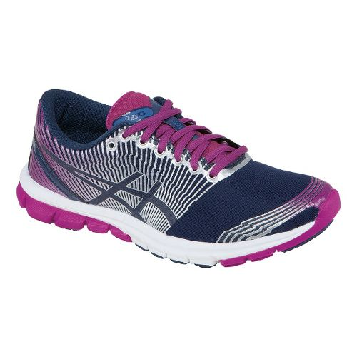 Womens ASICS GEL-Lyte33 3 Running Shoe - Navy/Plum 8