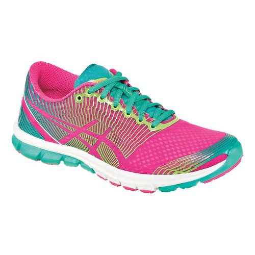 Womens ASICS GEL-Lyte33 3 Running Shoe - Pink/Green 7